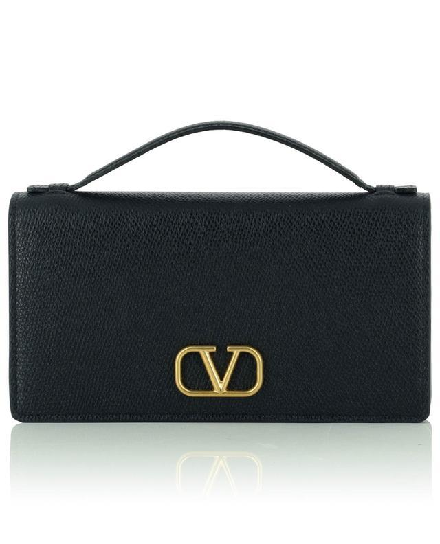 Mini sac à main en cuir grainé VLogo Chain Wallet VALENTINO