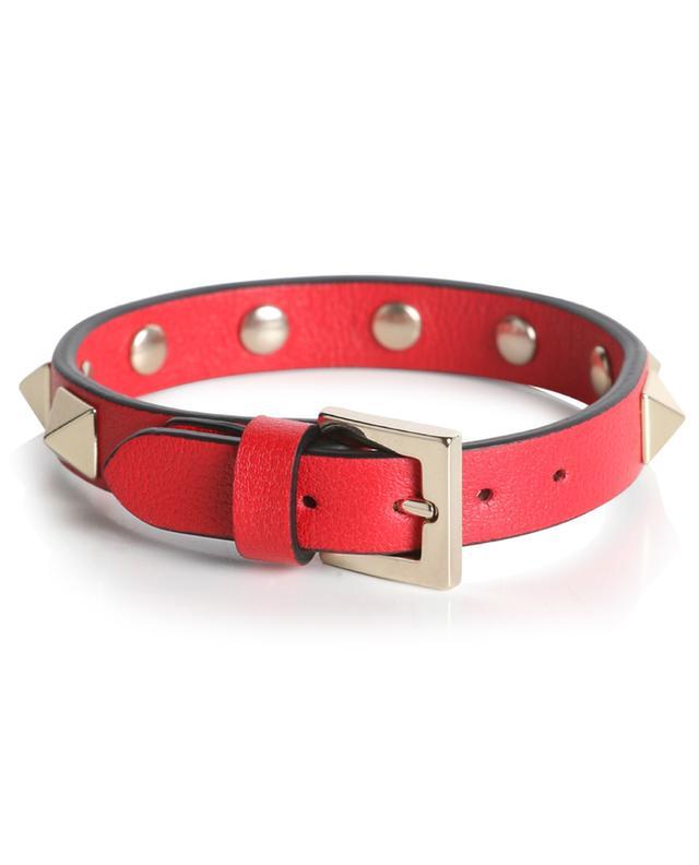 Bracelet en cuir à clous Rockstud VALENTINO