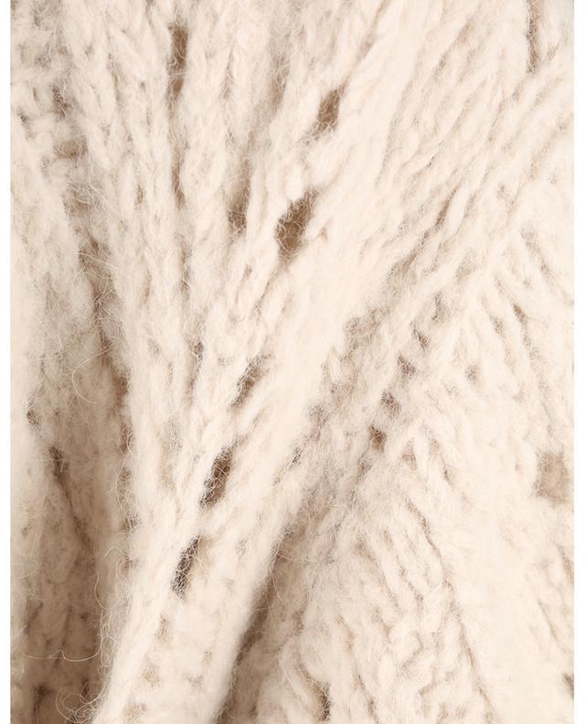 Manteau en maille d'alpaga ajourée Lace Effect BRUNELLO CUCINELLI