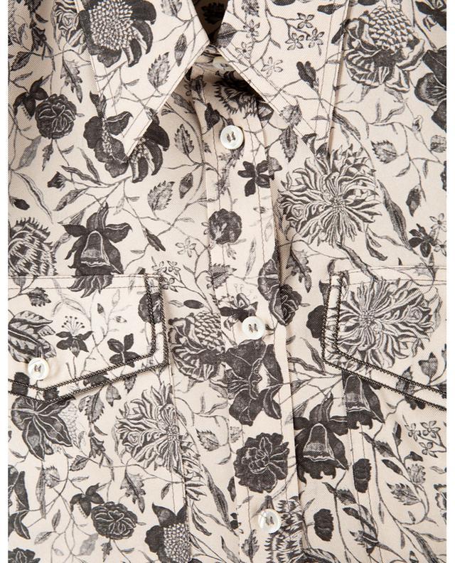 Chemise en sergé de soie fleuri à Monile BRUNELLO CUCINELLI