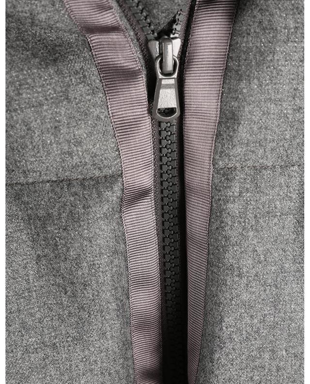 Doudoune boxy en laine scintillante BRUNELLO CUCINELLI