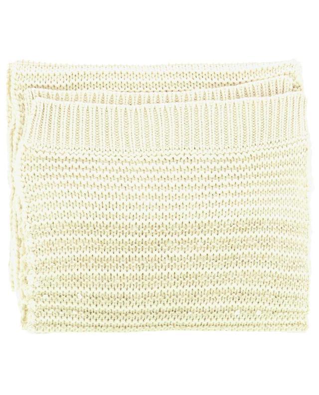 Écharpe en maille de laine vierge, soie et mohair à sequins BRUNELLO CUCINELLI