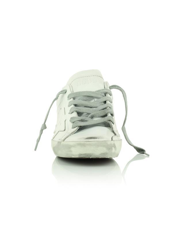 Baskets basses à lacets en cuir blanc effet vieilli Super-Star GOLDEN GOOSE