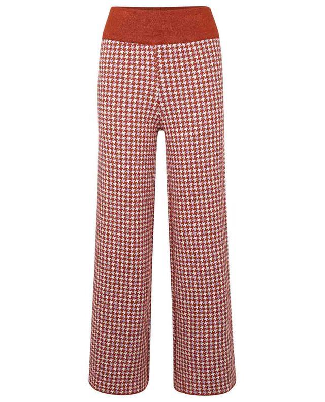 Pantalon en maille motif pied-de-poule Rumorist VALENTINE WITMEUR