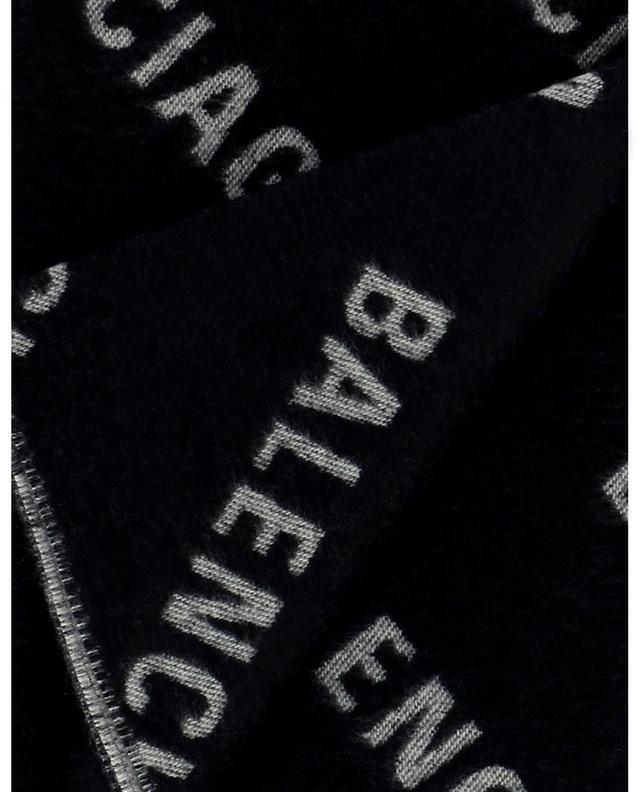 Écharpe en jacquard de laine Logo All Over BALENCIAGA