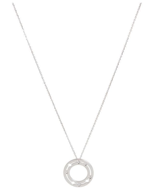 Collier avec pendentif en or blanc et diamants Pulse 20 mm DINH VAN