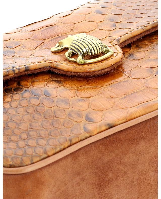 Sac porté épaule en daim et cuir de python Mini Ava CLARIS VIROT