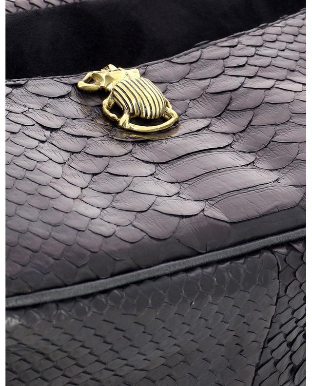 Sac porté épaule en daim et python Lily CLARIS VIROT