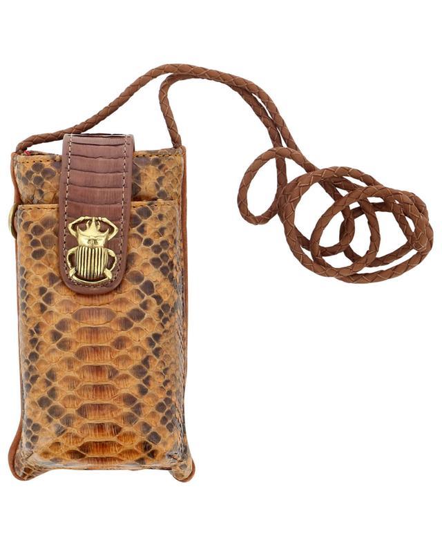 Étui à téléphone en cuir de python Double Marcus CLARIS VIROT