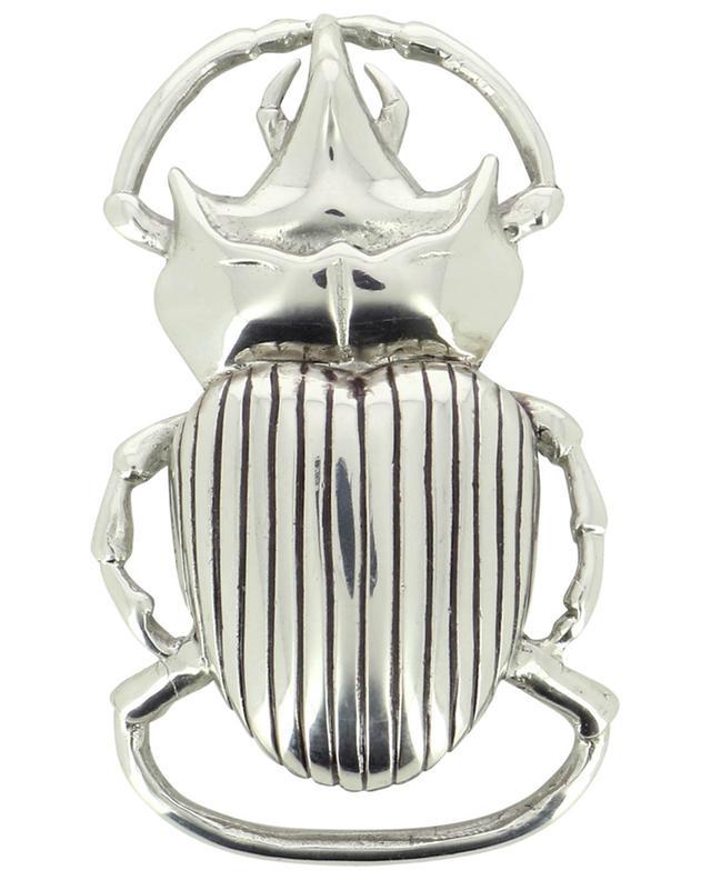 Boucle de ceinture argentée Scarabée CLARIS VIROT