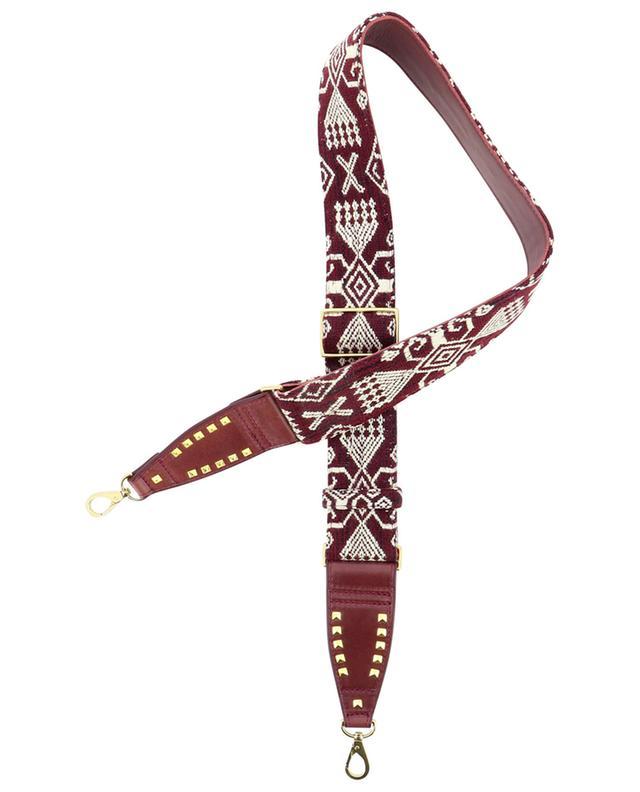 Bandoulière pour sac à main en cuir et tissu Timor CLARIS VIROT