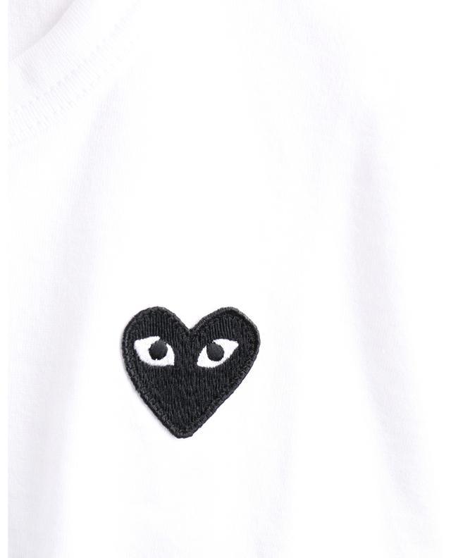 T-shirt ajusté orné d'un patch coeur noir COMME DES GARCONS PLAY