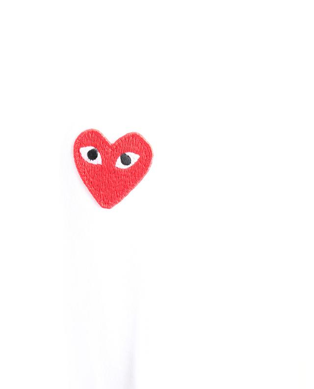 T-shirt ajusté orné d'un patch coeur rouge COMME DES GARCONS PLAY