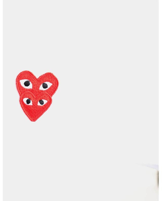 T-shirt ajusté à patch Double Red Heart COMME DES GARCONS PLAY