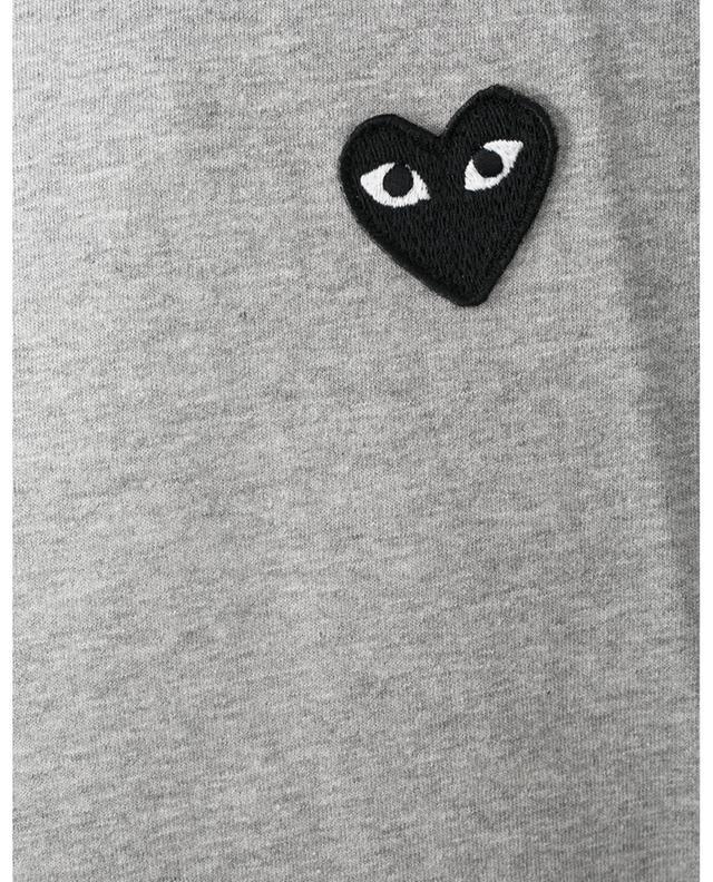 T-shirt gris chiné à patch Black Heart COMME DES GARCONS PLAY