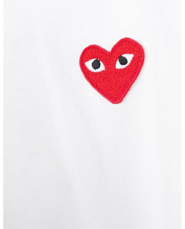 T-shirt à manches longues et patch Red Heart COMME DES GARCONS PLAY