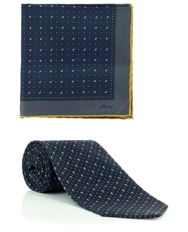 Set de cravate et de pochette en soie imprimée BRIONI