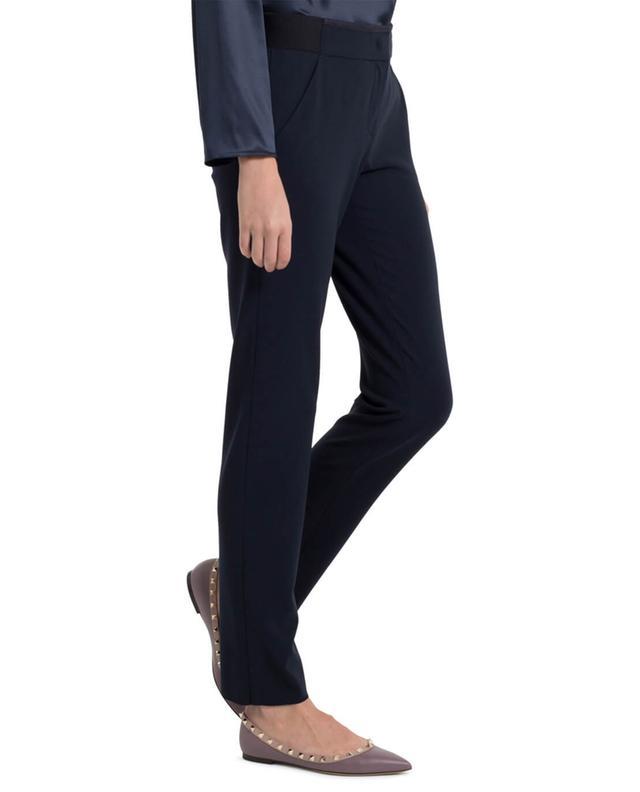 Armani Jeans Gerade geschnittene Wollhose Marineblau