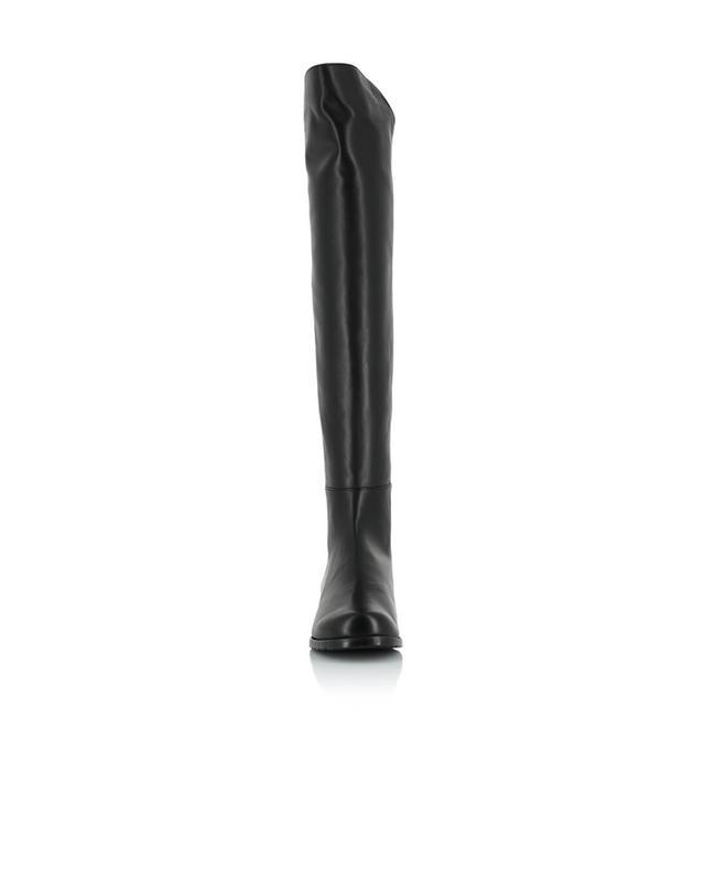 Overknee-Stiefel aus Leder und Stoff 5050 STUART WEITZMAN
