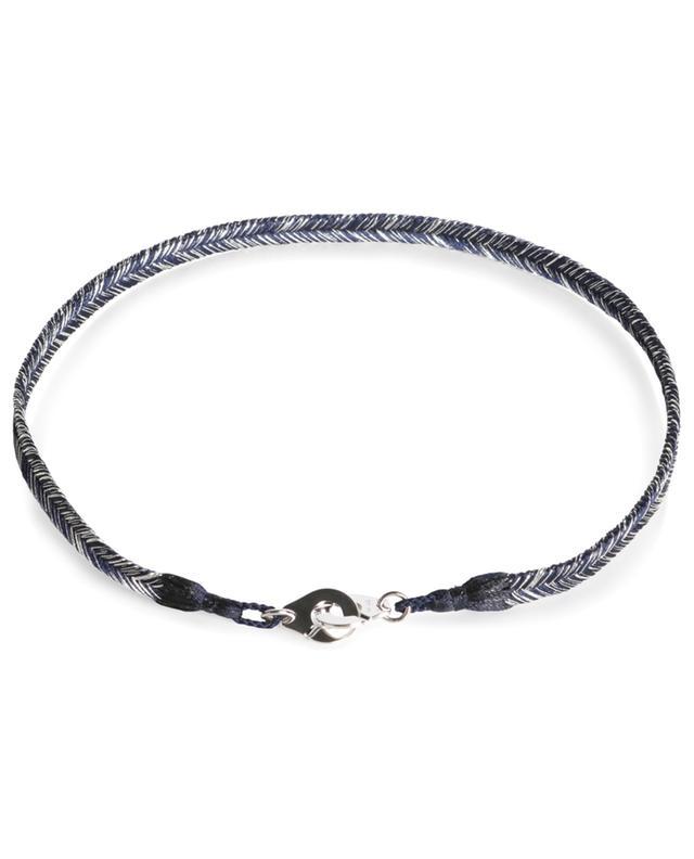 Bracelet tressé avec or blanc Nuit Céleste Menottes R10 DINH VAN