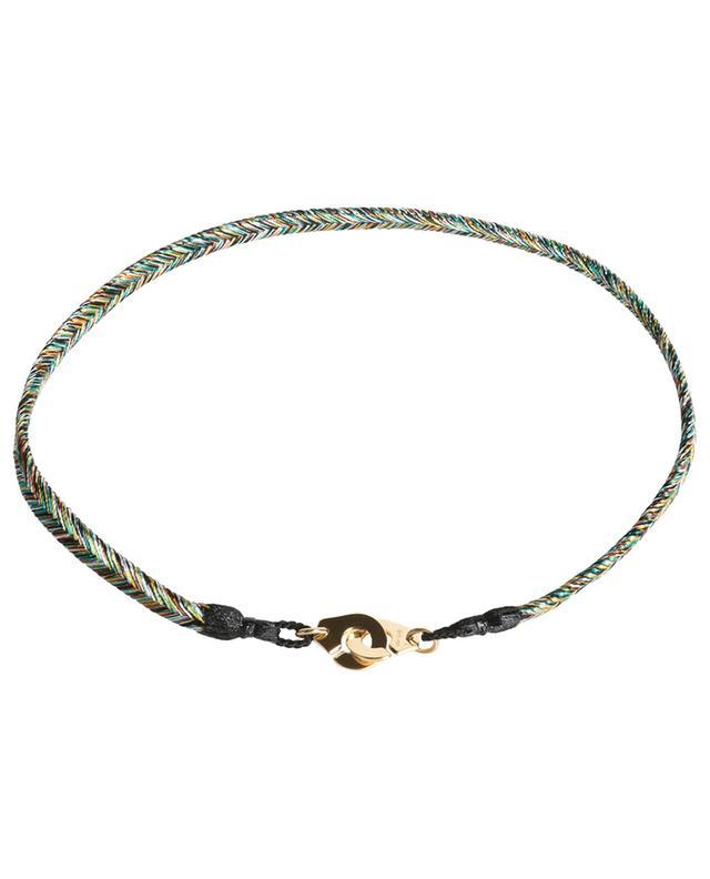 Bracelet tressé avec or blanc Forêt Tropicale Menottes R10 DINH VAN