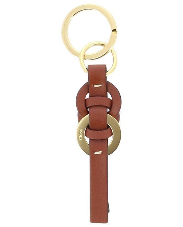 Porte-clés en cuir et métal doré Darryl CHLOE