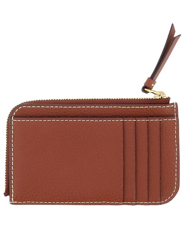 Porte-cartes en cuir grainé avec poche zippée Darryl CHLOE