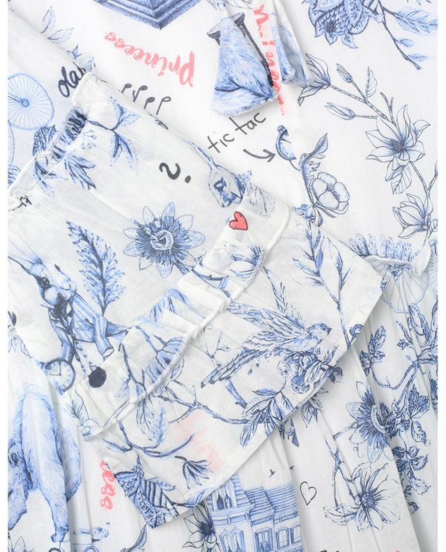 Mini robe à volants étagés en coton imprimé fantaisie PRINCESS