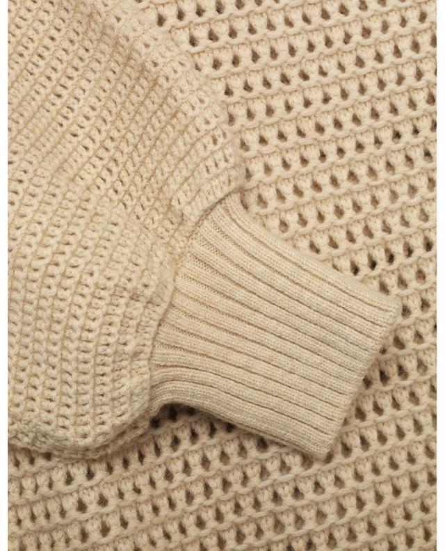 Pull ajouré en laine vierge et poil de chameau AKRIS PUNTO
