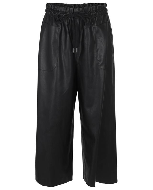 Jupe culotte en cuir synthétique Frey AKRIS PUNTO