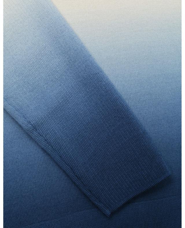Pull oversize fin à col V imprimé Tie-Dye AKRIS PUNTO