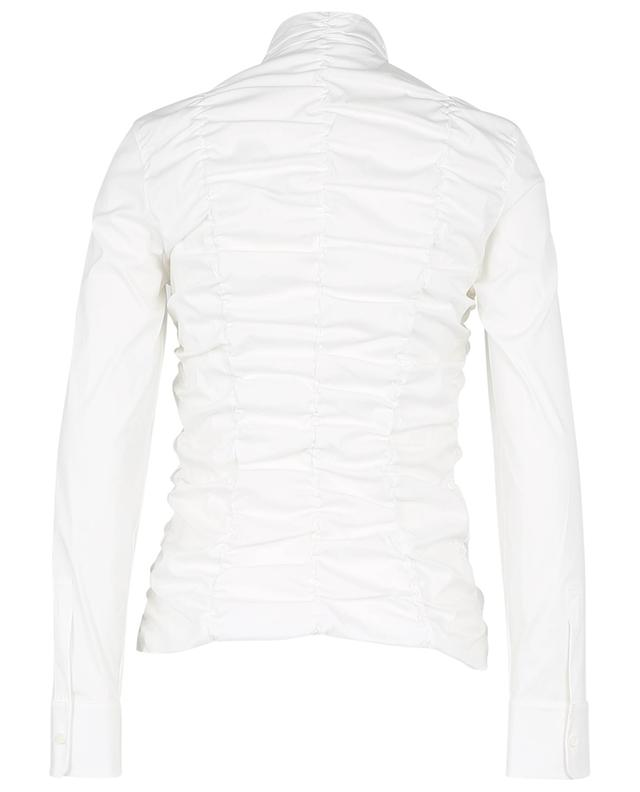 Blouse zippée en coton froncé AKRIS PUNTO