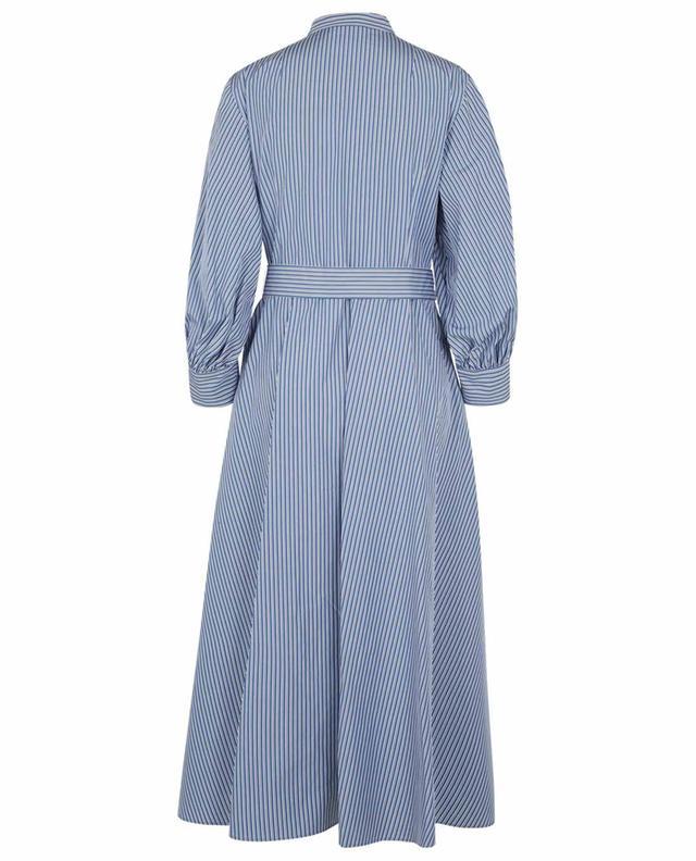 Robe chemise longue en popeline rayée AKRIS PUNTO