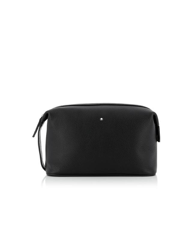 MONTBLANC Meisterstück Soft Grain leather toiletry bag BLACK   BG b3745942cf