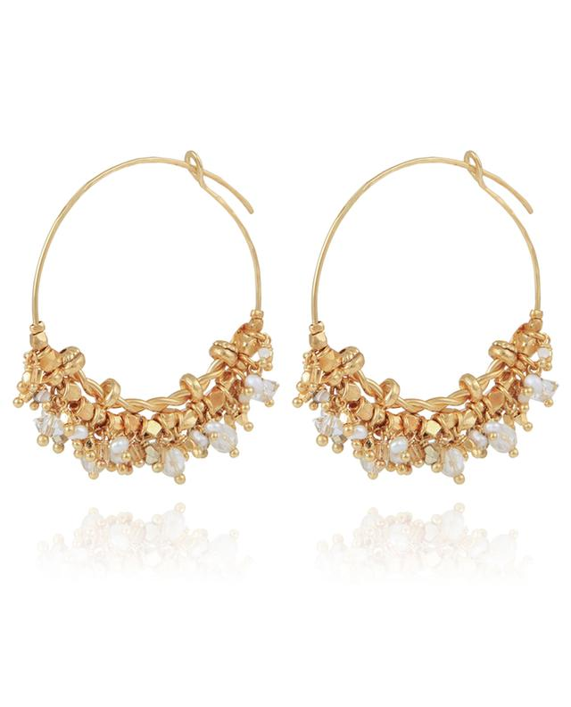 Boucles d'oreilles dorées Grapia GAS BIJOUX