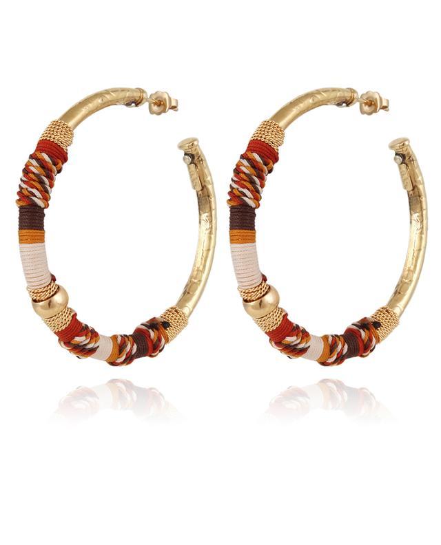 Boucles d'oreilles dorées Maori Emballée GAS BIJOUX