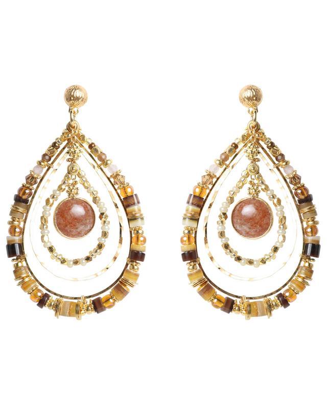 Boucles d'oreilles dorées Aurore Serti GAS BIJOUX