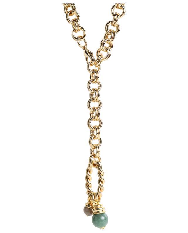Sautoir doré anneau et amulette Sofia DEAR CHARLOTTE