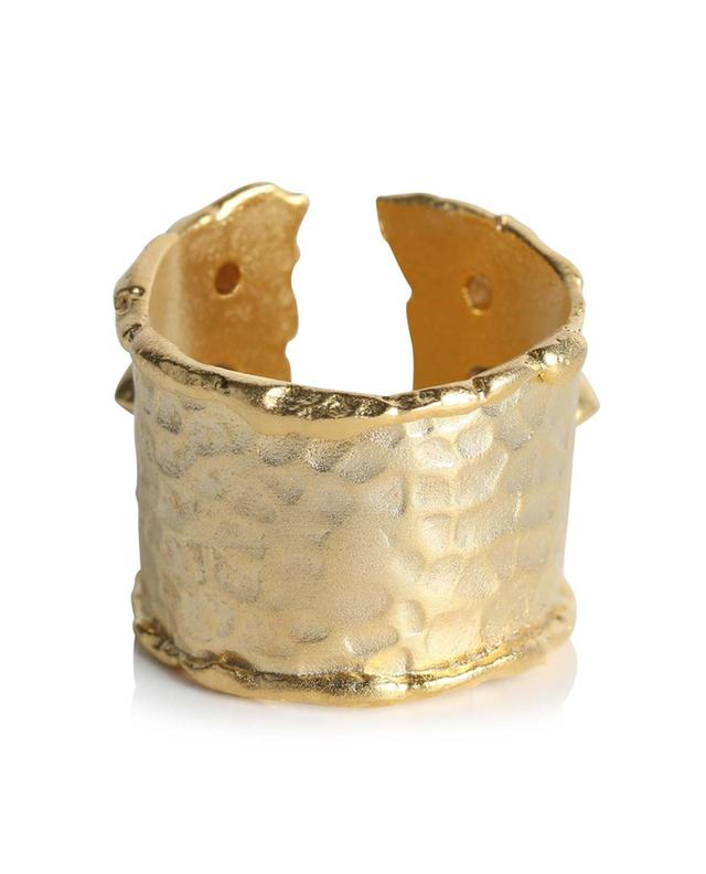 Bague dorée brossée ornée de strass Murano DEAR CHARLOTTE