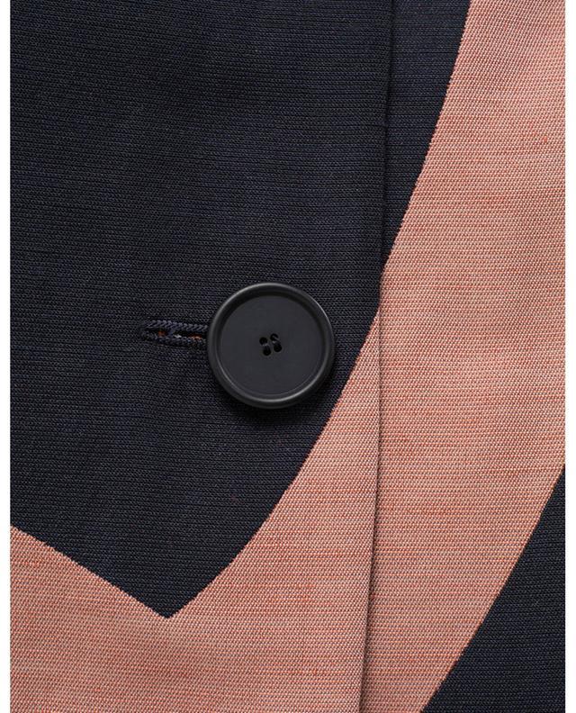 Veste courte en lin et coton mélangés AKRIS PUNTO