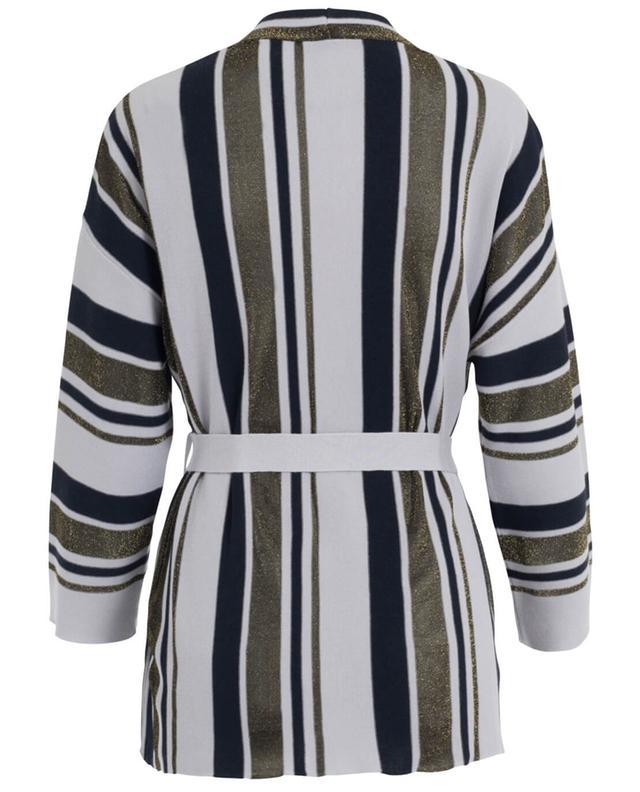 Piazza sempione virgin wool and silk cardigan blue A27056-MULT