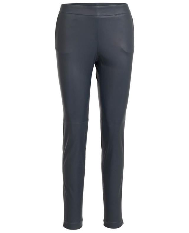 Fabiana filippi pantalon en cuir todi gris A27231-GRIS