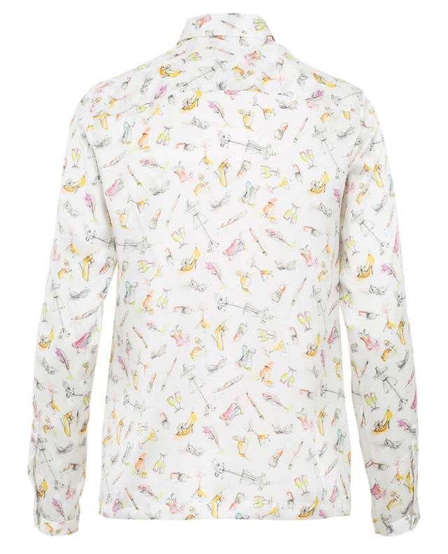 J/b chemise en soie blanc A27359-MULT