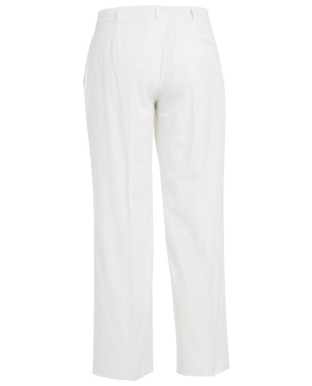 Agnona pantalon en coton blanc A27404-BLAN