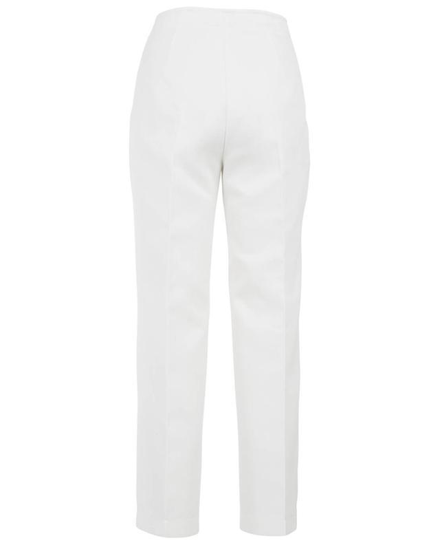 Agnona pantalon large en coton blanc A27418-BLAN