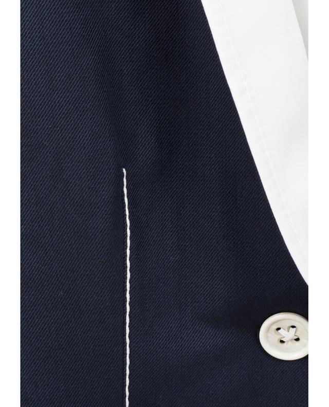 Agnona blazer en sergé de coton bleu A27423-BLEU