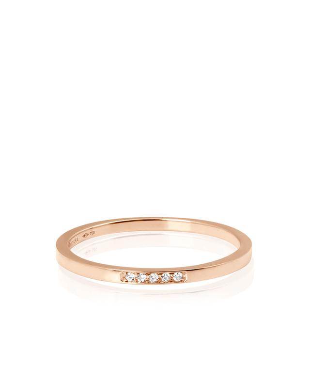 Vanrycke bague en or rose et diamants mini medellin orrose