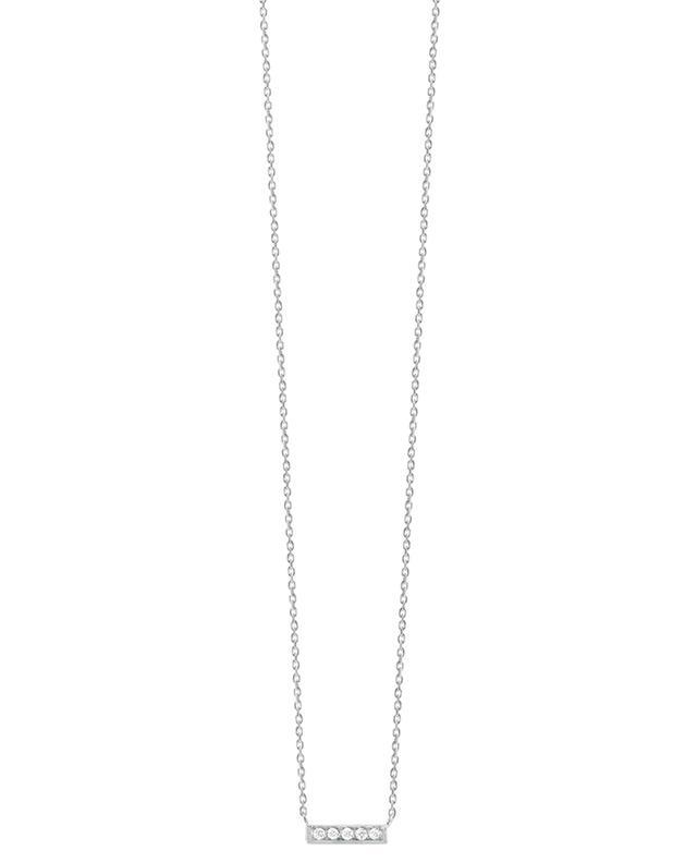 Mini Medellin white gold and diamonds pendant necklace VANRYCKE