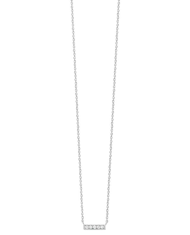 Mini Medellin white gold and diamonds pendant necklace VANRYCKE