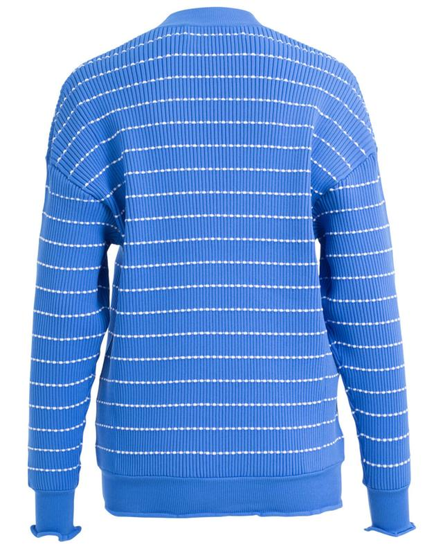 Victoria beckham pull rayé côtelé bleu A27977-BLEU